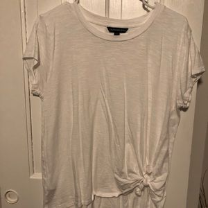 White front tie t shirt